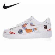 new products 4465c 402c1 Nike Air Force Supreme NBA AF1 hombres resistentes al desgaste zapatos de  skate, blanco, transpirable ligero AQ8017 100