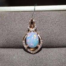 Naturalny opal wisiorek, australijski górnictwo obszar, zmienia kolor efekt, 925 srebrny wysłać łańcucha
