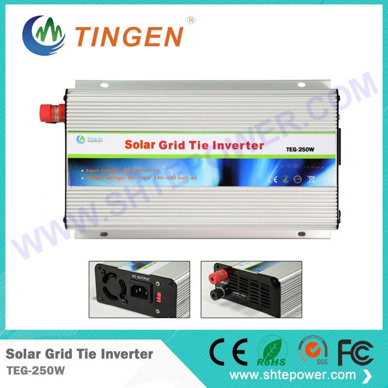 small solar grid tie inverter 250w ,dc 12v 24v 48v to ac 110V 220v solar inverter 250w pure sine inverter solar