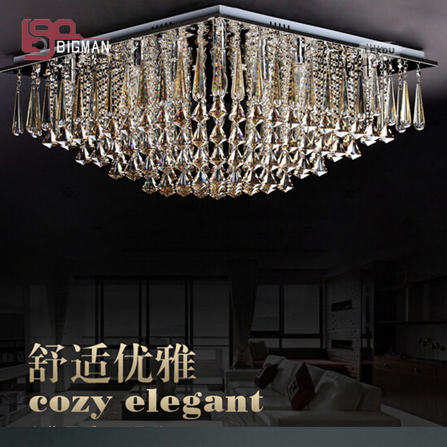 Us 547 2 10 Off High Quality Modern Champagne Chandelier Lighting Fixtures Luxury Foyer Chandeliers Crystal Lamp Free Shipping In From