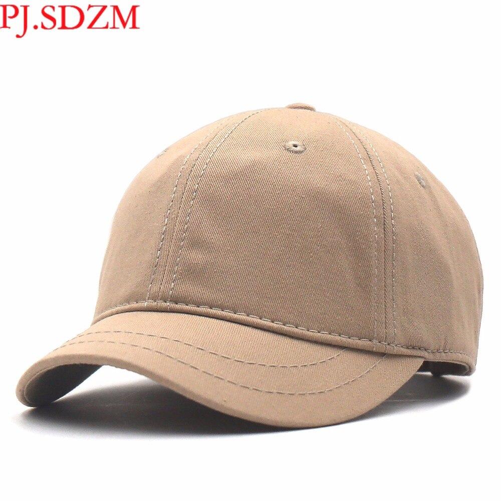 PJ. SDZM Großhandel Preis 2 teile/los Kurz Traufe Baseball Caps Männer Sommer Sonnenschirm Kappen Hip Hop Hüte Freizeit Straße Hut