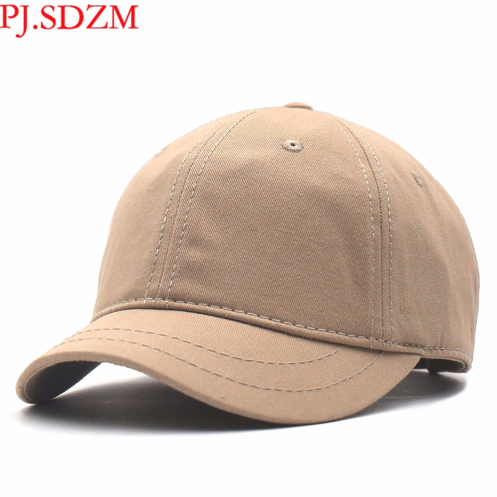 PJ.SDZM Wholesale Price 2PCS/LOT Short Eaves   Baseball     Caps   Men Summer Sunshade   Caps   Hip Hop Hats Leisure Street Hat