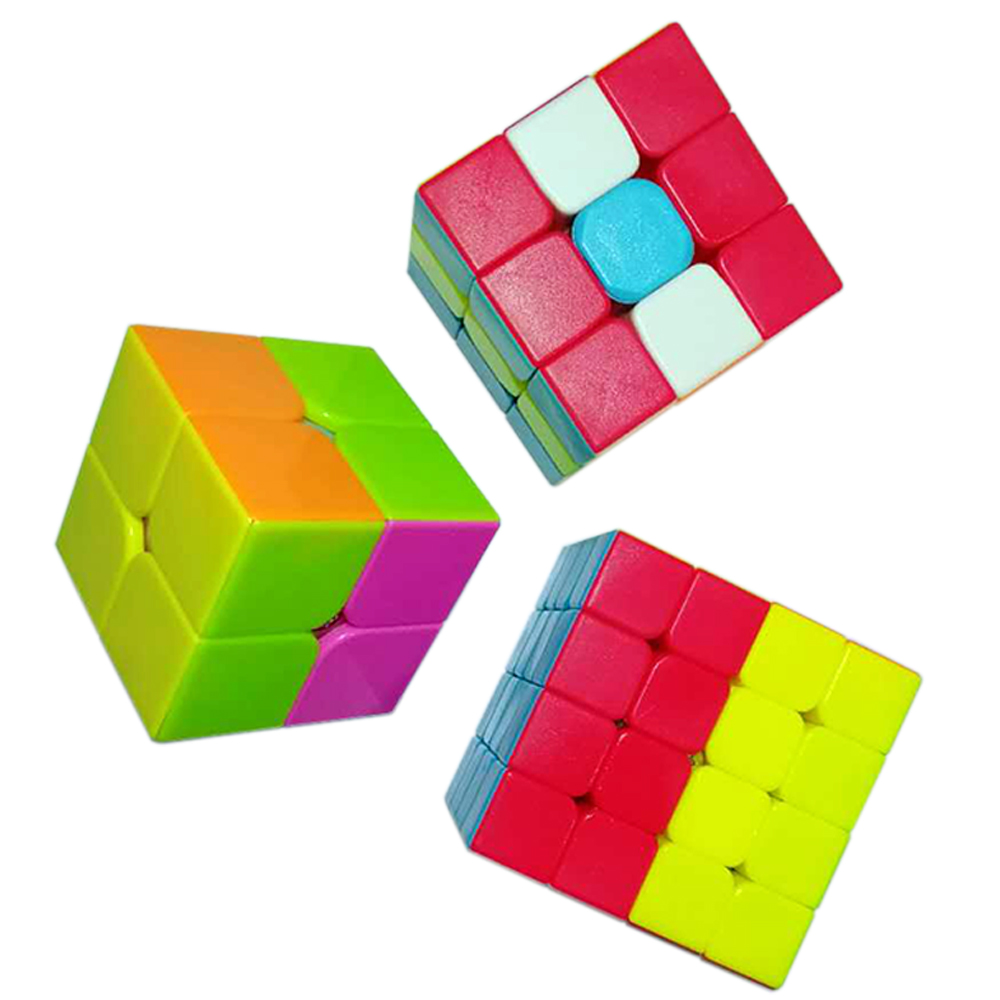 3pcs/set Magic Cube 3*3*3 on 2x2x2 QiYi's Cubes 3x3x3 Cubo Magico 4x4x4 Kids Toy for Children Games and Puzzle Cube 4*4*4 2*2*2