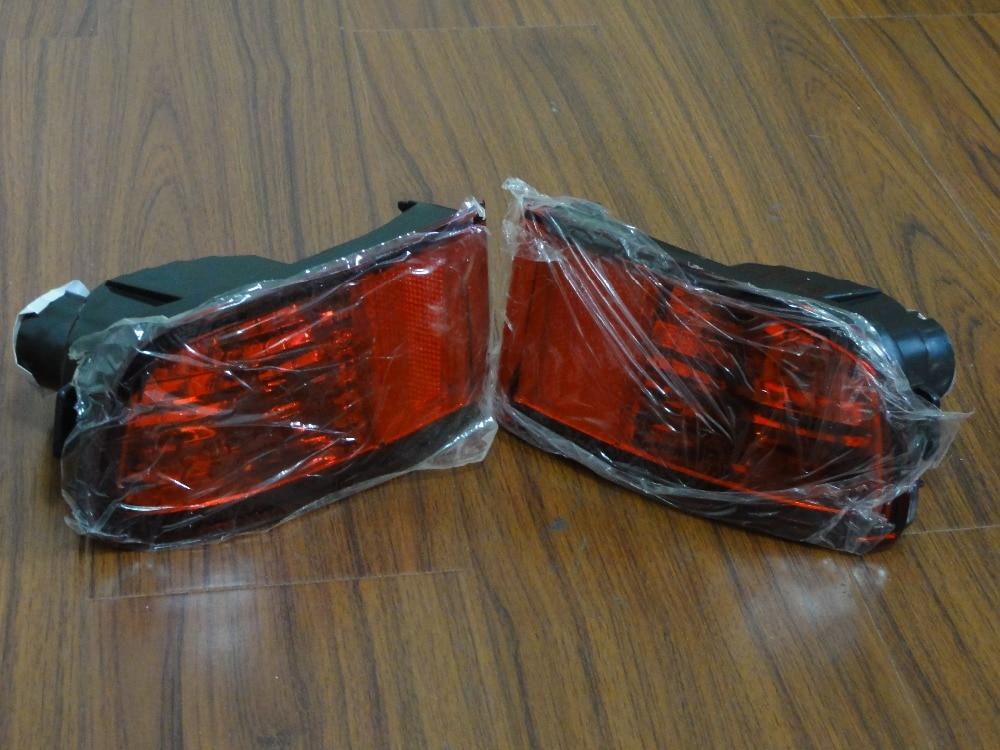Mlhovky pro zadní nárazník do auta 2ks červené, vysoce kvalitní bez žárovky pro TOYOTA LandCruiser Prado FJ120 11.2002 - 08.2009