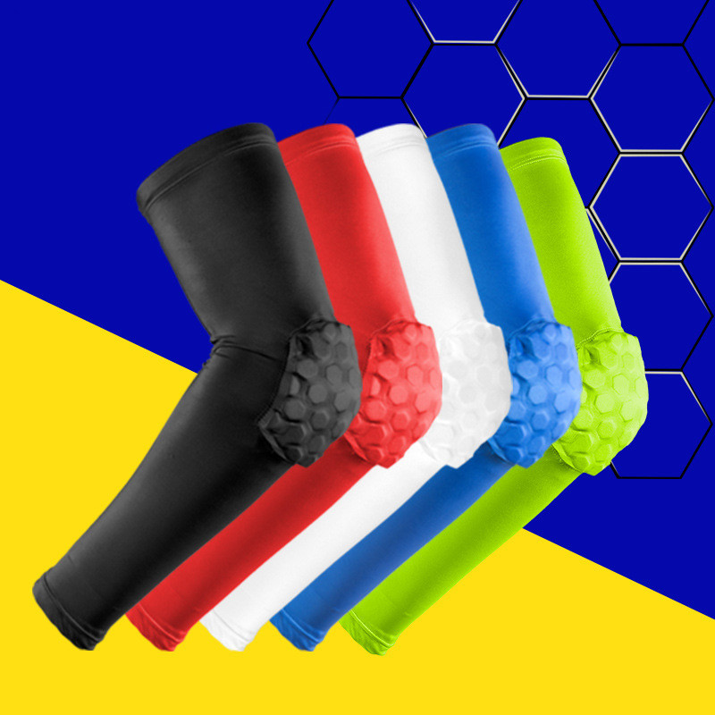 Sports Accessories Independent New 1pcs Anti-collision Arm Warmers Brancer Lengthen Armguards Outdoor Sports Honeycomb Protective Forearm Elbow Pads#238265 Beneficial To Essential Medulla Arm Warmers