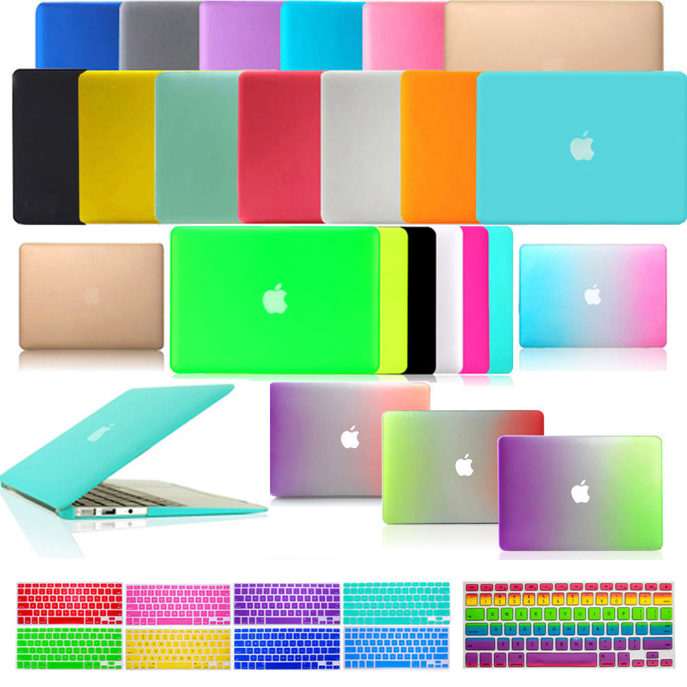 2019 New Laptop Hard Case Cover Shell+Keyboard Cover For Apple Macbook Pro Retina 12 13 15 Air 11 13 Touch Bar&ID 13 15 Inch