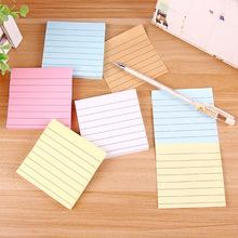 20 pcs/Lot Macaron color memo pad Line paper sticky notes Planner sticker To do note Stationery Office school supplies CM580