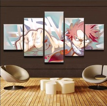 Fairy Tail Natsu Canvas HD Prints Painting (5 Pcs. Set)