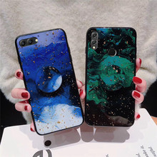 gold foil bling phone case for Huawei honor view v10 lite 8 pro 9 10 8x v9 luxury glitter cloud holder stand back cover fundas cloud 9