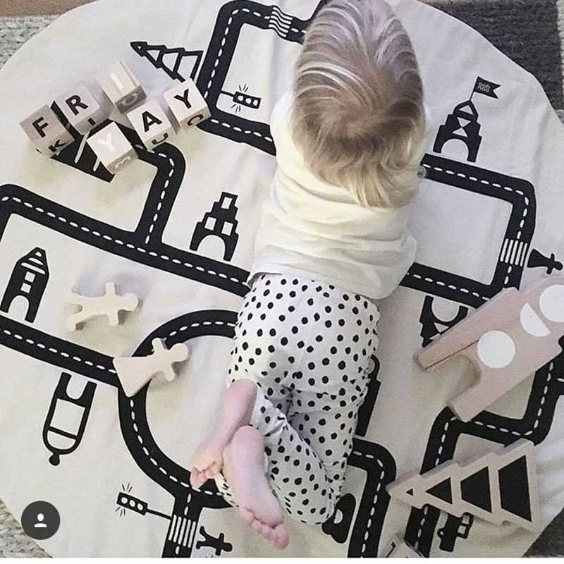 Baby Road Track Climb Play Mats Toy Kids Toddler Blanket Cover Girls Developing INS Carpet tapis lapin Floor Cushion 120cm play mat baby blanket inflant game play mats carpet child toy climb mat indoor developing rug crawling rug carpet blanket