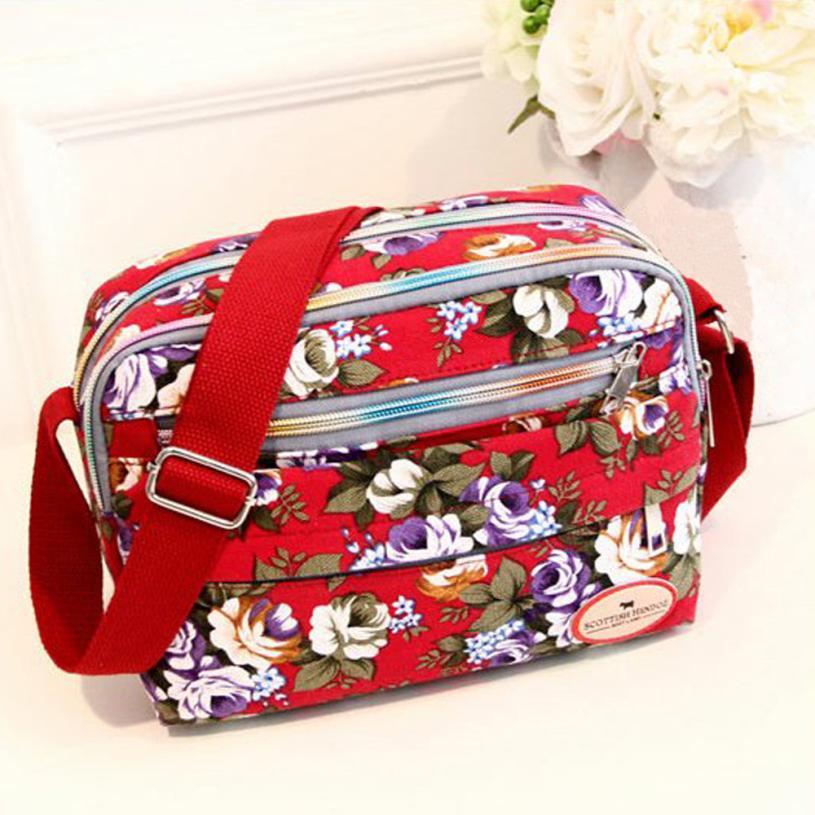 Женская мода тиснением Холст Сумка Наплечная Сумка Леди Ретро цветок украшения небольшой площади сумка # F