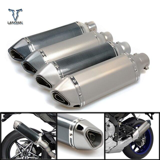 Moto 51 millimetri di scarico del silenziatore del tubo di Ingresso con db killer 36 millimetri connettore Per SUZUKI GSF Bandit 650 650S 1000 1200 1250 SV650