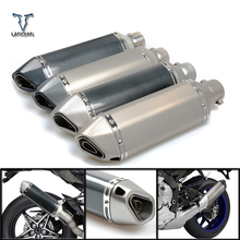 Motorcycle Inlet 51mm exhaust muffler pipe with db killer 36mm connector For SUZUKI GSF Bandit 650 650S 1000 1200 1250 SV650