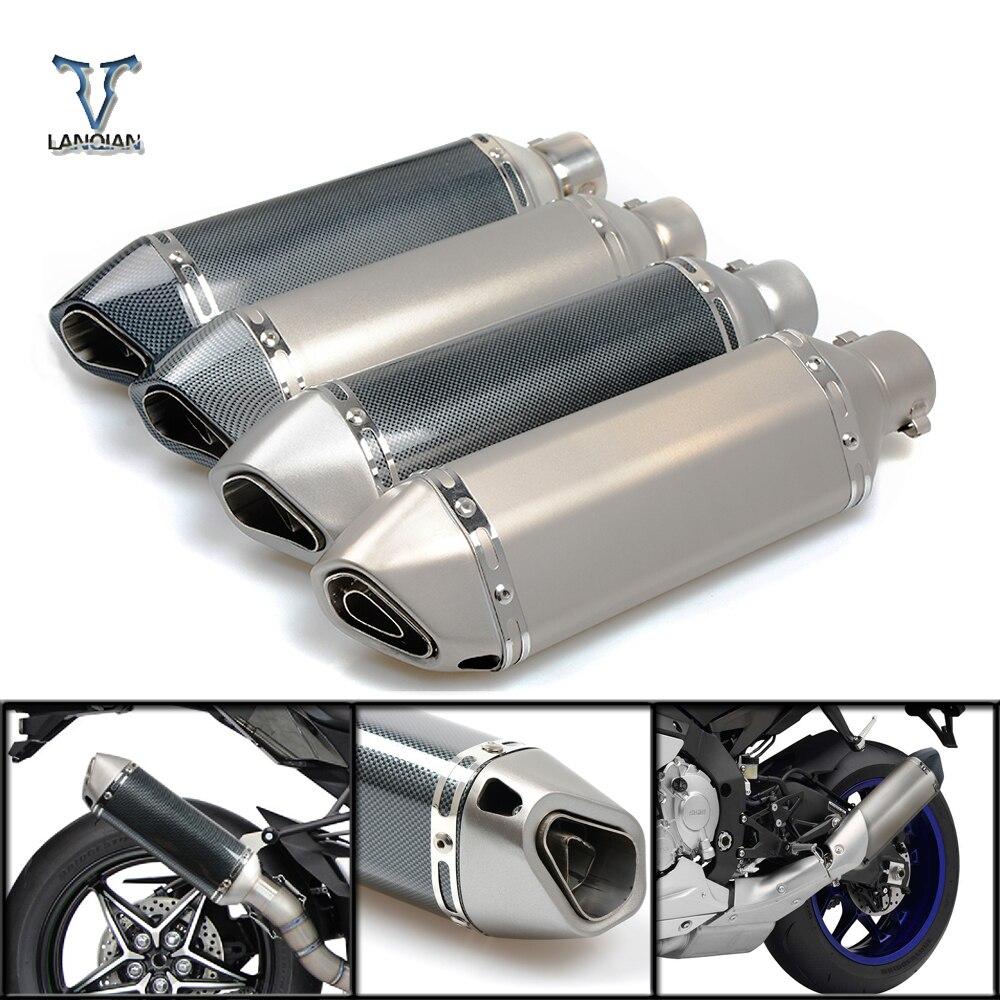 Tuyau de silencieux d'échappement d'entrée de moto 51mm avec connecteur db killer 36mm pour SUZUKI GSF Bandit 650 650S 1000 1200 1250 SV650