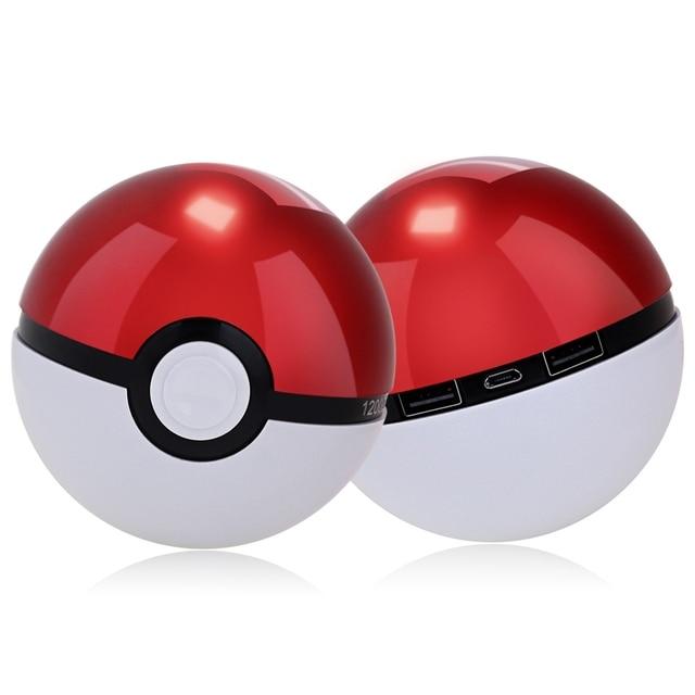 12000 мАч Pokeball Go Power bank Powerbank Pokeball СИД Быстро Заряда Телефона Power Bank Мультфильм 3D Внешняя Батарея