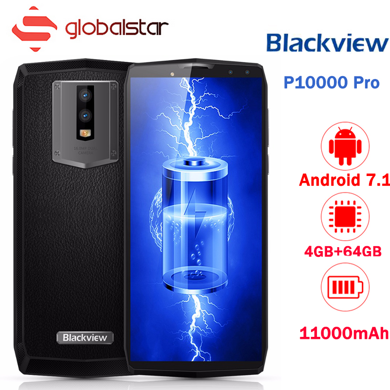 Blackview P10000 Pro 11000mAh BAK Battery Smartphone 5.99 In Cell HD+ Screen MT6763 Octa Core 5V/5A 4GB RAM 64GB ROM Cell Phone