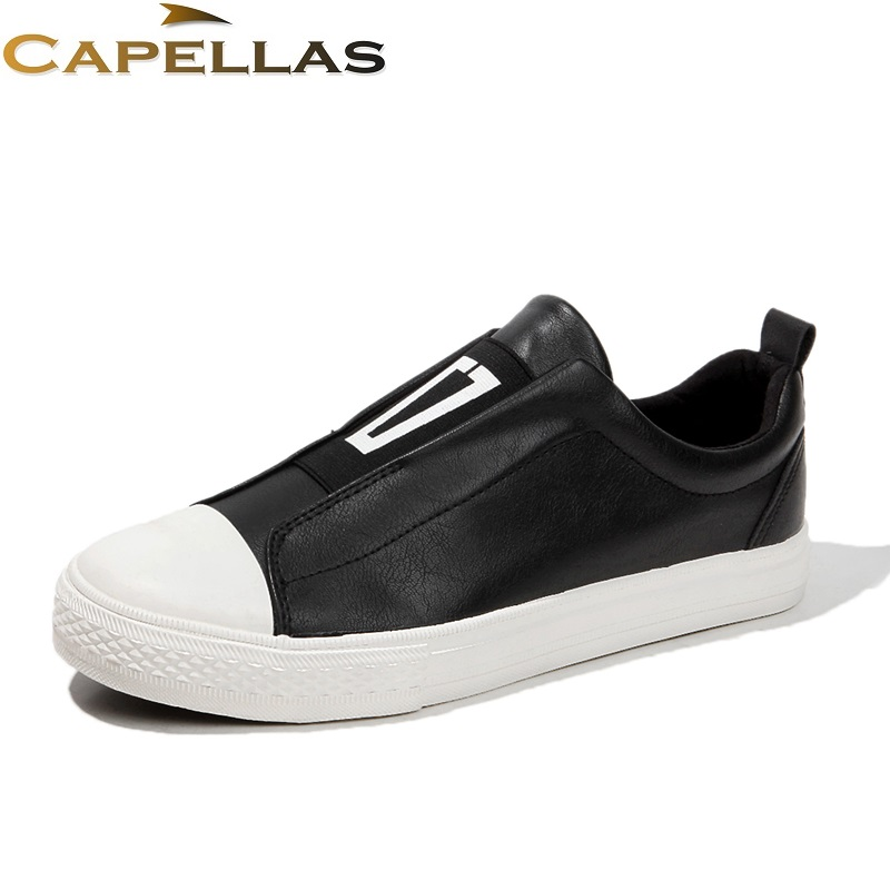 CAPELLAS Spring Summer Men`s Leather Shoes Brand Casual Shoes for Men Shoes Zapatos Moccasins Mens Fashion Shoes Size 39-44 cbjsho brand men shoes 2017 new genuine leather moccasins comfortable men loafers luxury men s flats men casual shoes