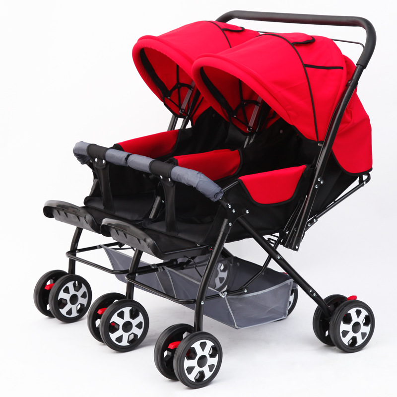 Double Baby Stroller Pram for Twins Newborn Baby Carriage Can Sit Lie Flat Folding Baby Car Twin Umbrella Stroller Travel SystemDouble Baby Stroller Pram for Twins Newborn Baby Carriage Can Sit Lie Flat Folding Baby Car Twin Umbrella Stroller Travel System
