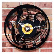 Music CD Wall Clock Art Deco Clocks Home Decoration Vintage Time Part 95