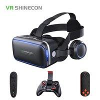 VR SHINECON 6.0 3D Glasses Virtual Reality Mini Google Cardboard Helmet VR Glasses Headsets VR for 4 6 inch Mobile Phone