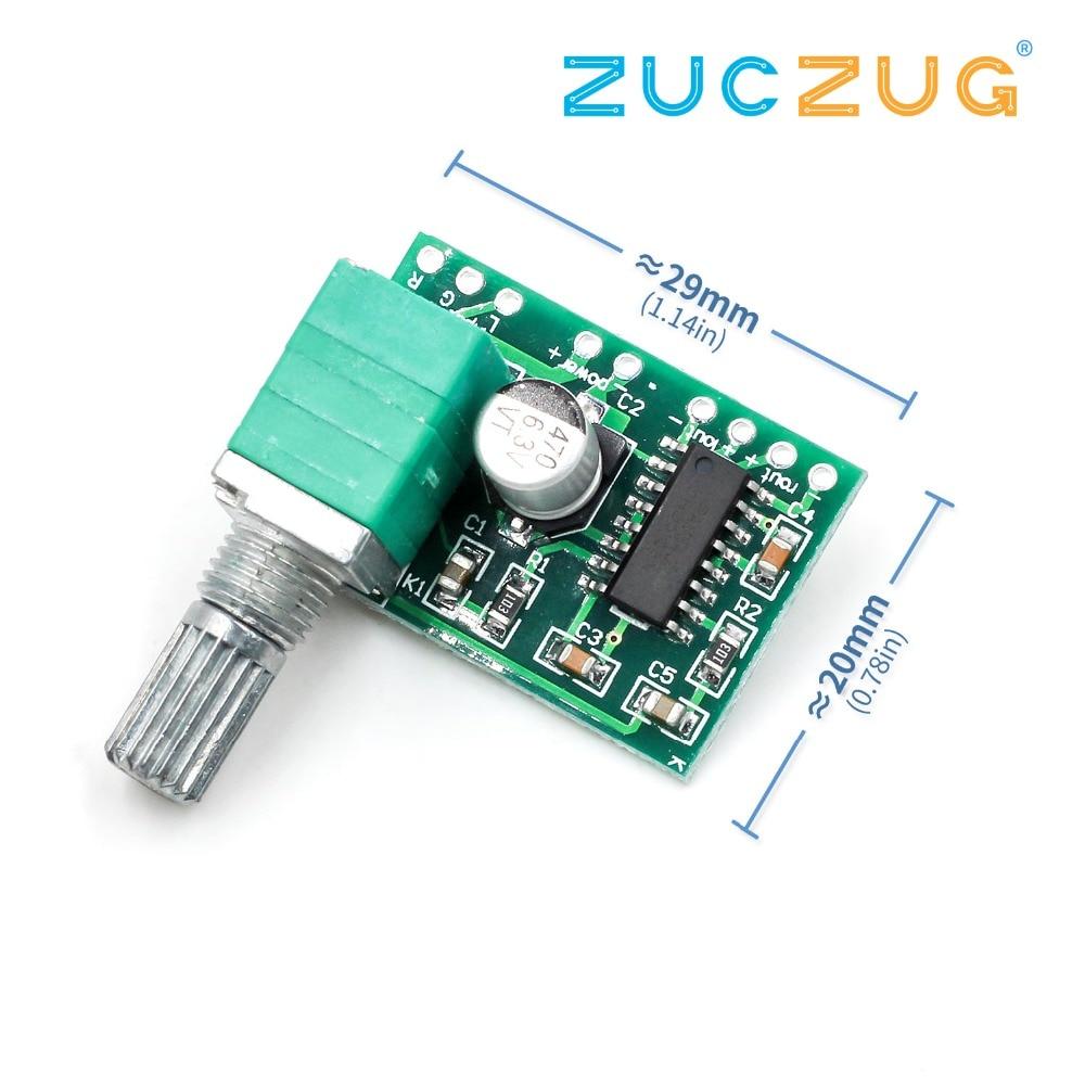PAM8403 5V Power Audio Amplifier Board 2 Channel 3W W Volume Control/ USB Power