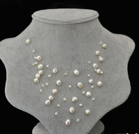 Amazing Women S Jewelry 5 Layer White Pink Purple Black Real Freshwater Pearl Starry Sky Necklace