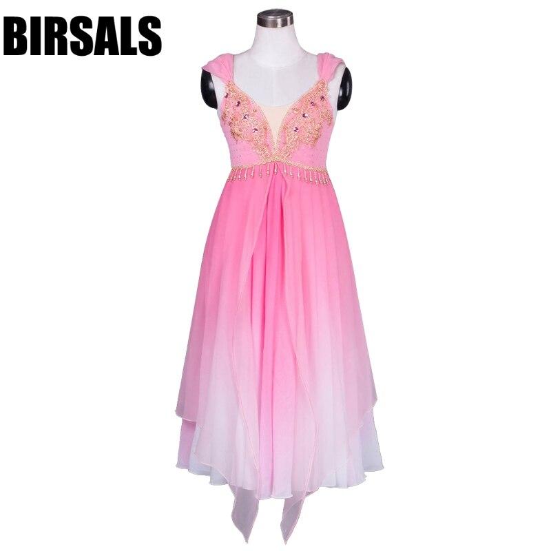 Corsaire rose Performance Romance Ballet longue robe filles ballerine classique scène Ballet Costume pour SaleBT9041