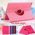 Tablet Case For Apple iPad mini4 Rotating Two-in-one Leather Flat PU Leather Woven Removable Soft Cover