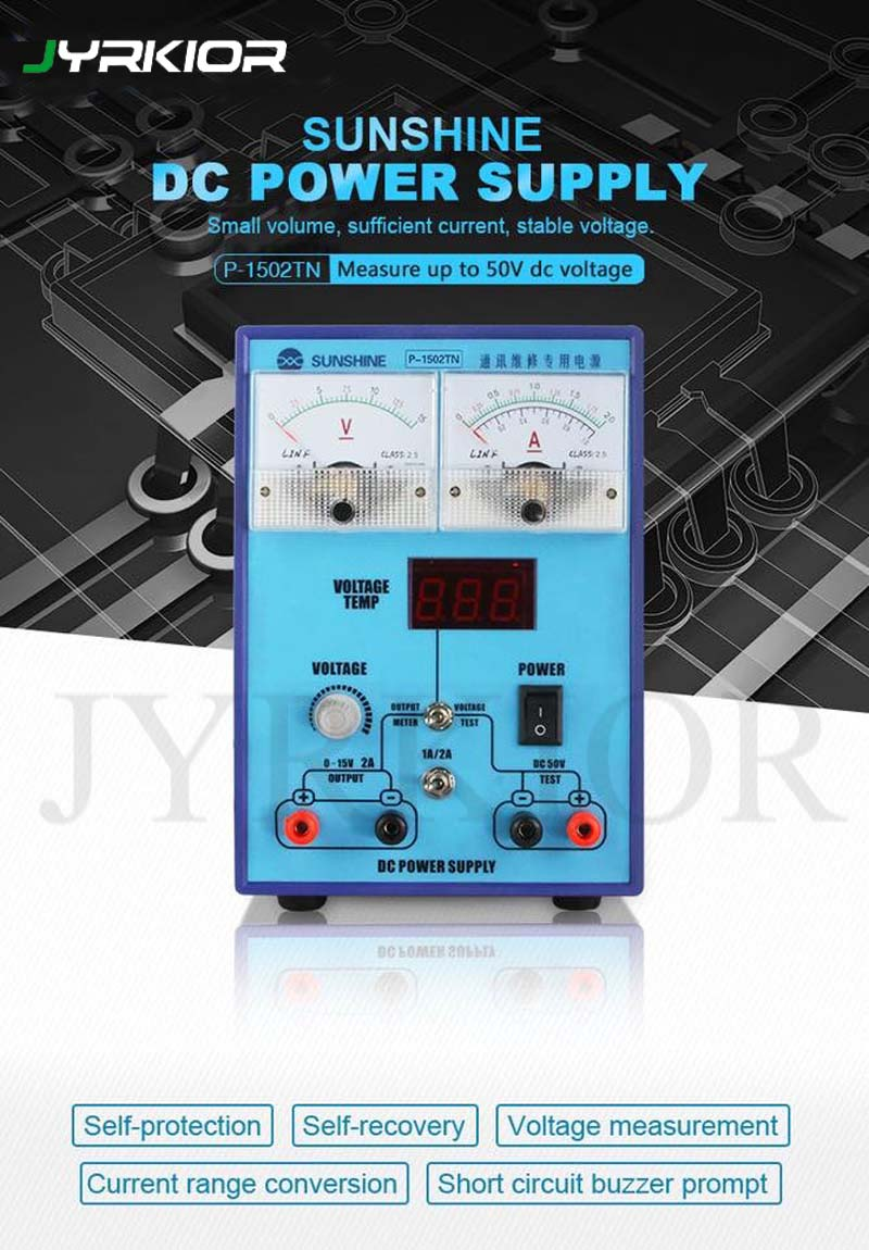Jyrkior P 1502TN Communication Maintenance Power Supply 15V2A Adjustable Constant Temperature DC Voltage and Current Measurement