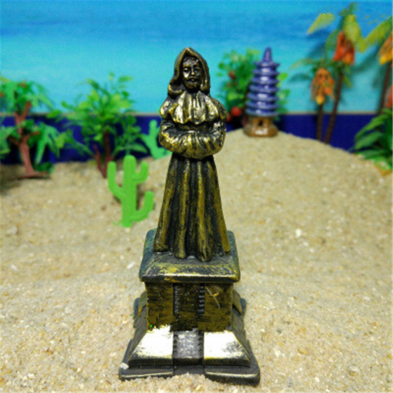 Obliging Wholesale 200pcs/lot Salvator Mundi Jesus Imitation Bronze Statue Colophony Crafts Psychological Sand Table Accessories G1430 Toys & Hobbies