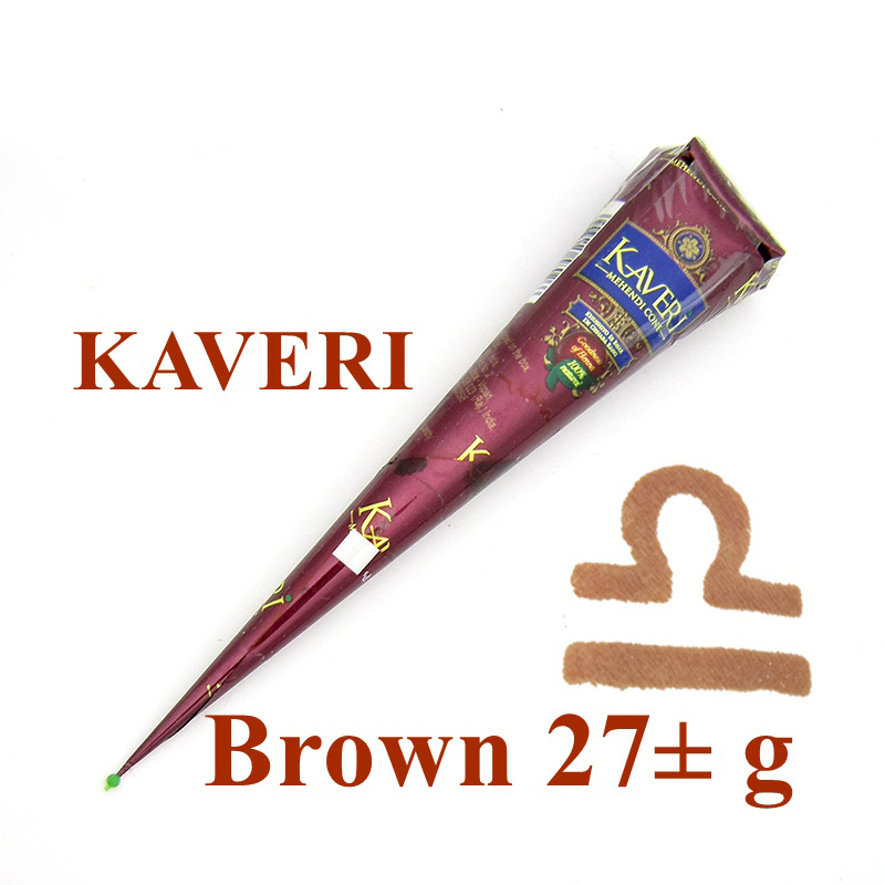 Nºnew Natural Brown Indian Henna Tattoo Pasta Kerucut Kaveri Merek