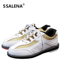Unisex Bowling Shoes With Skidproof Sole Professional Sport Shoes For Men Women Breathable Lace Up Training Sneakers #B1318