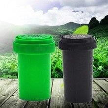 Stash Jar Container Storage Pill-Bottle Acrylic Plastic Case-Box Vial Push-Down Turn