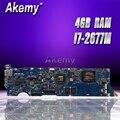 Akemy UX31E материнская плата для ноутбука ASUS UX31E UX31 тест оригинальная материнская плата 4G ram I7-2677M