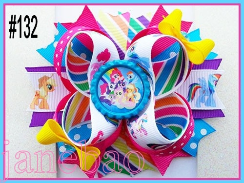 free shipping 50pcs 4 5 Inspired Boutique Layered Hair Bow birthday hair bows girl hair clips