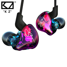 KZ ZST Armature Dual Driver Earphone In Ear Audio Monitors Noise Isolating HiFi Music Sports Earbuds Heasets with Microphone