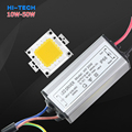 Chips de Led de alta Potência Real 10 W 20 W 30 W 50 W COB Lâmpada LED Chip de luz + fonte de Alimentação LED IP66 Led Driver Para Holofote Holofotes