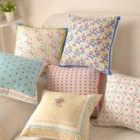 American Village Cotton Throw Pillow Case Office Sofa Cushion Cover Car Seat Pillowcase Home Decoration