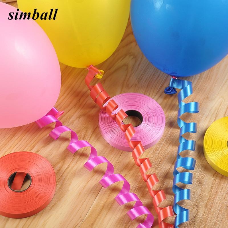 10 m Or Rose Ballon Curling Ruban FOIL Wrapping Ballons String Party Balloon