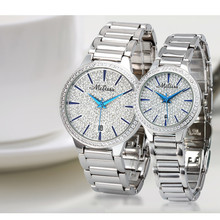 Simple Fashion Full Crystals Lovers Watches Classic Business