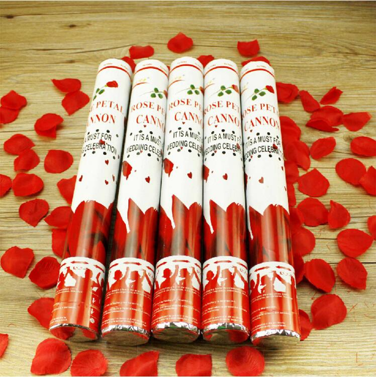 1pcs confetti poppers fireworks salute no fire happy for Home party tube