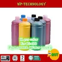 Tinta de pigmento 8PK adecuada para Epson R2400 y otras impresoras de marca modificadas de forma R2400  1 l por color  tinta resistente al agua de calidad