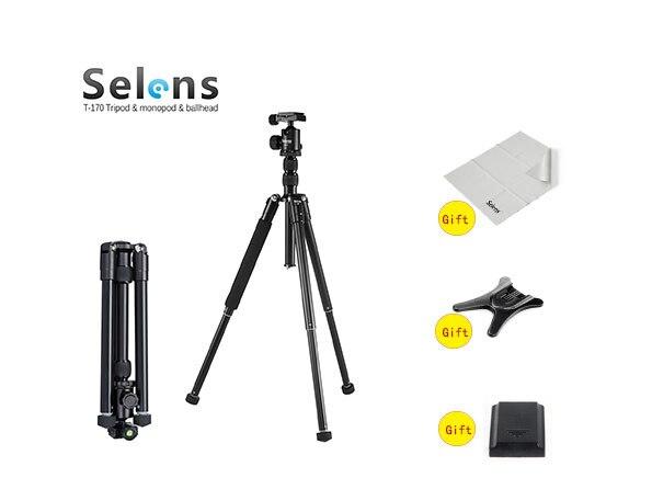 Selens SE-T170 mini camera tripod profesional gopro accessories tripod for camera Black color Monopod for traval selens pro 100x100mm