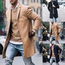 c0d65e1c8dc88 INCERUN manteau d hiver pour homme longue veste décontracté Slim Fit  coupe-vent mode Parkas à manches longues affaires Trench su.