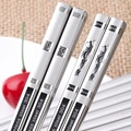 5 pcs Stainless Steel Iron Antiskid Fast Household of Chinese Style Silver Chopsticks Korean Metal 10 Pairs of  Family Pack