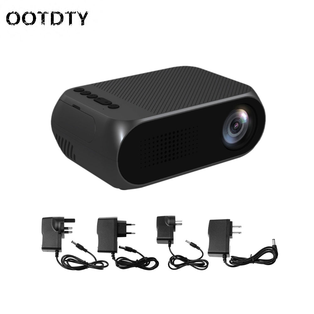 Mini 1080P HD Home Mini Movie Projector Multimedia Cinema Theater LED LCD Pocket-PC Friend gp70 mini lcd 1200lm led theater home projector hdmi 1080p fhd