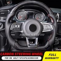 Carbon Fiber Steering Wheel For Golf 7 GTI Golf R MK7 Jetta Passat Polo GTI Scirocco 2014 2018 Replacement original steering
