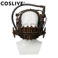 Coslive SAW Reverse Bear Trap Bronze Soft Resin The Jaw Trap Horror Movie SAW Cosplay Props SAW Reverse Mask Cosplay Mask