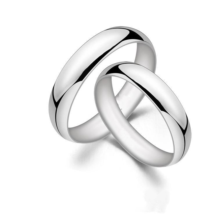 His and Her Jewelry Ring Solid Platinum Pt950 Wedding Band ...
