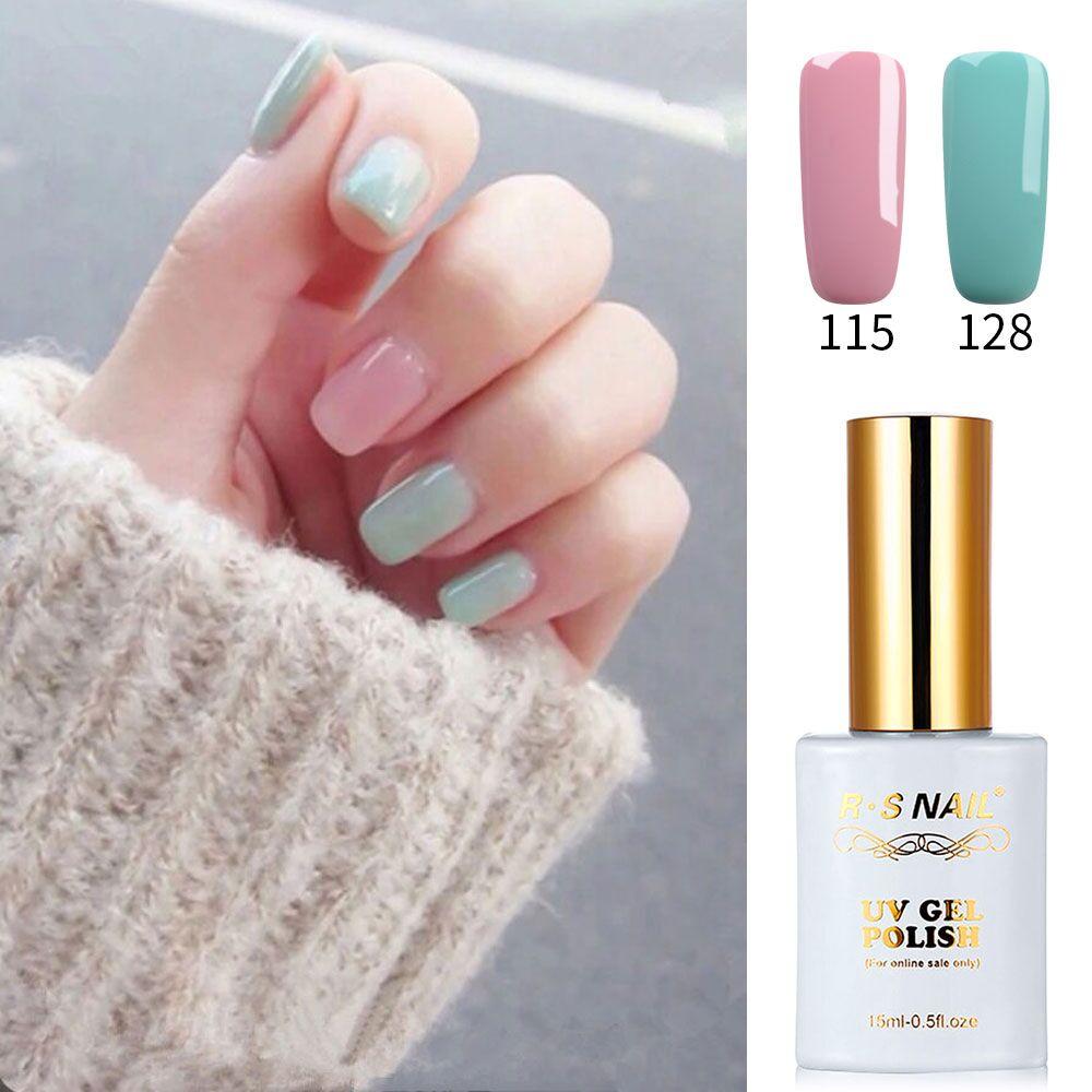 RS Nail 15ml uv gel nail polish No.115+128 led lamp gel Soak off Gel Lacquer unhas de gel esmalte permanente nail polish set